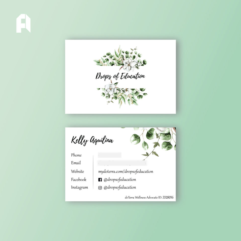 Drops of Education - Business card