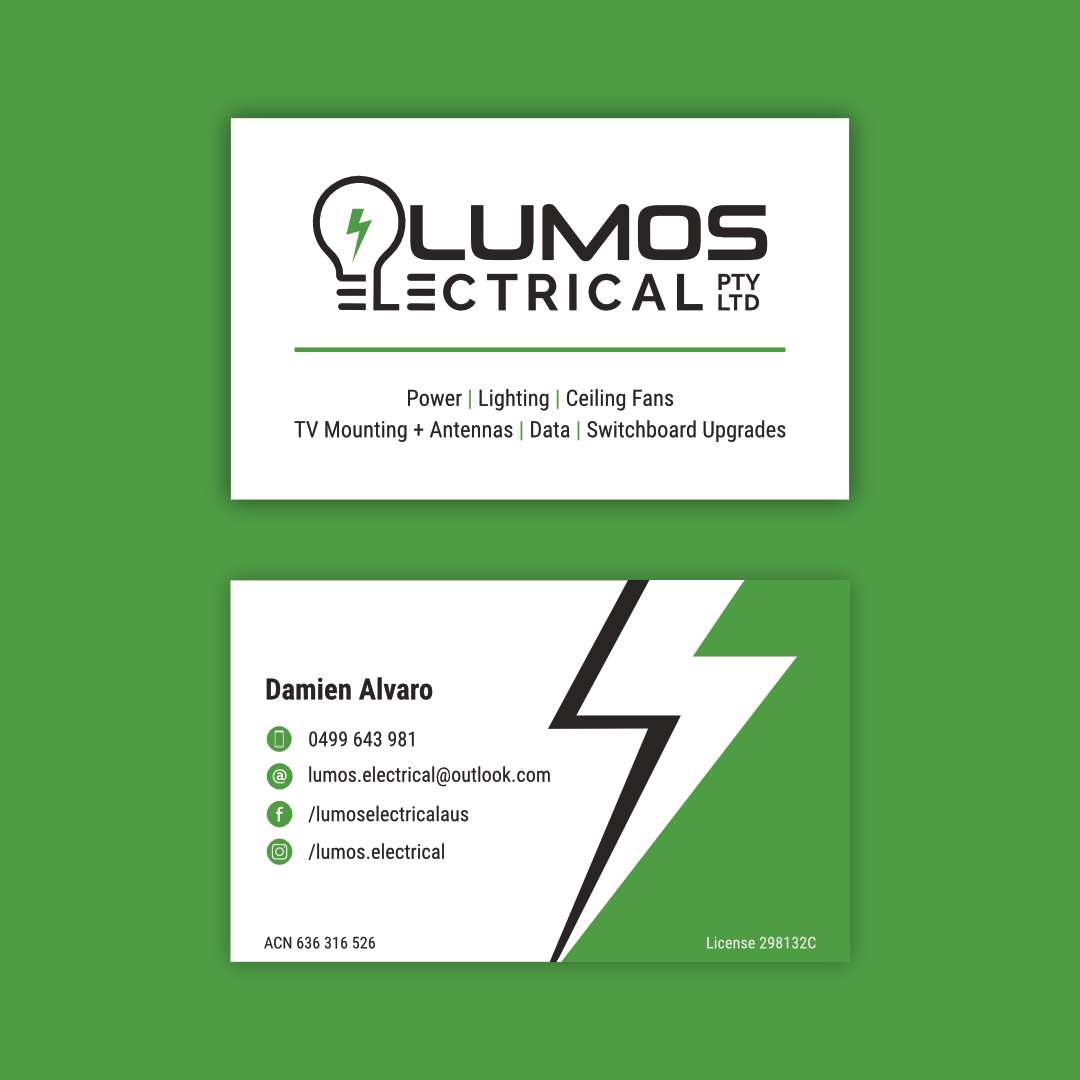 Lumos Electrical - Business Cards